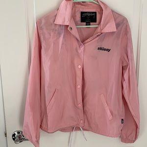 Pink stussy jacket